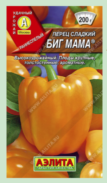 Сорт сладкого перца Биг мама