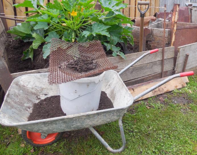 просеивание компоста