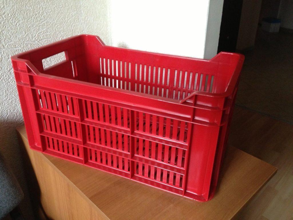 Оборотный пластиковый ящик решетчатый
